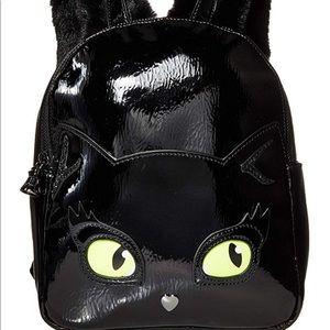 BETSEY JOHNSON resting kitsch cat face backpack